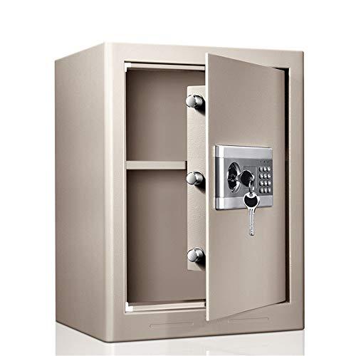 Caja de Seguridad Digital Caja Fuerte ignífugo y Resistente al Agua Segura con Digital Teclado electrónico de Seguridad Caja Caja de Seguridad Alta Seguridad (Color : Gray, Size : 38X31X50CM)