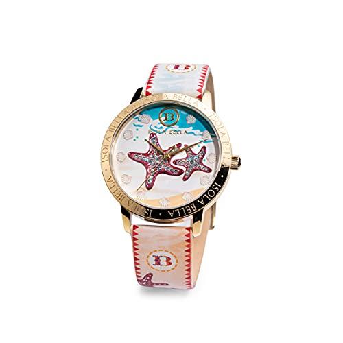Reloj Isla Bella Estrellas de acero, piel y circonitas 40000047