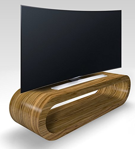 Cerceau de Style Rétro Grande Zebrano Lumière Brillant Meuble TV/Armoire 110cm