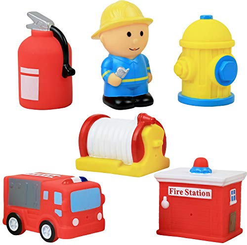 Click N' Play 6 Piece Fire Station Action Figure Play Set
