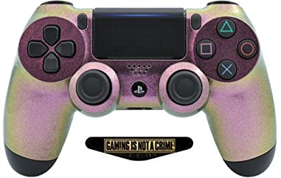 Snow Chameleon Ps4 PRO Rapid Fire Custom Modded Controller 40 Mods for All Major Shooter Games, Auto Aim, Quick Scope, Auto Run, Sniper Breath, Jump Shot, Active Reload & More with Custom LIGHTBAR