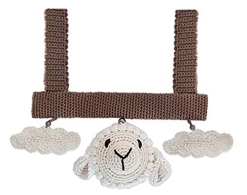 LOOP BABY - Spielbogen gehäkeltes Schaf Steffen - für Babyschale, Kinderwagen & Spielbogen - gehäkeltes Mobile