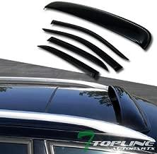 Topline Autopart Sun Rain Vent Window Visor+Sunroof Moon Roof Guard 2003-2007 Honda Accord 4D/4Dr