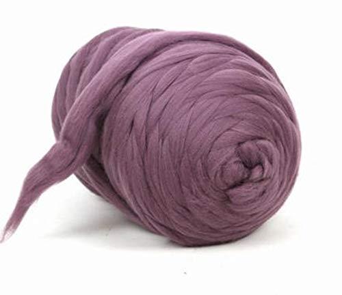 Giant Wool Yarn Chunky Arm Knitting Super Soft Wool Yarn Bulky Wool Roving (2 kg/4.4 lbs, Blush...