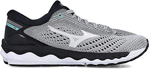 Mizuno WAVE SKY 3, Zapatillas de Running por Mujer, Gris (GlacierGray/White/AquaSplash 02),...