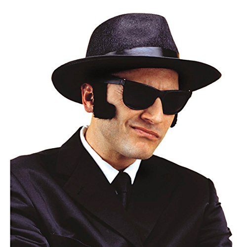 NET TOYS Schwarze Jumbo Kotletten Blues Brothers Bart Sideburns Sideburn Koteletten Backenbart falsch Backen
