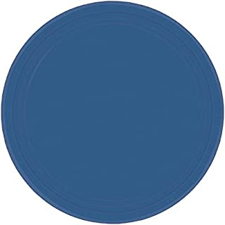 "Amscan Party Supplies Premium Paper Plates, 9"", Blue"