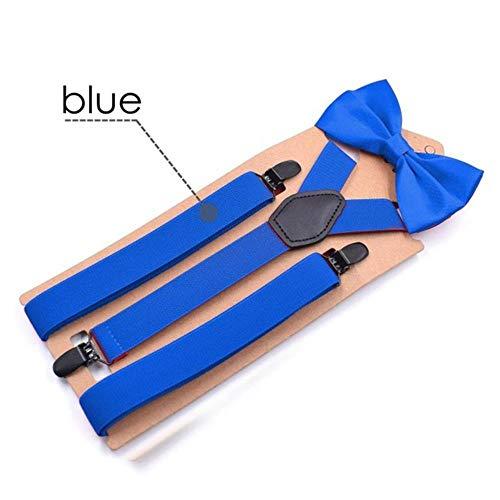 Koupany Adult Braces En Bow Tie Set Zwarte Bowtie Braces Voor Mannen Vrouwen Boeg Braces Voor Hoge Bretels 110 Cm