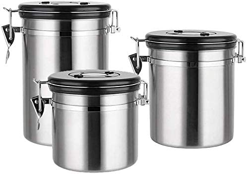 Food Storage Canisters Jars Stainless Coffee Steel Canister Max 46% Finally popular brand OFF Set