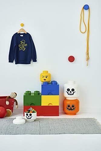 Gelb one Size Silly Room Copenhagen Lego-Aufbewahrungskopf Mini