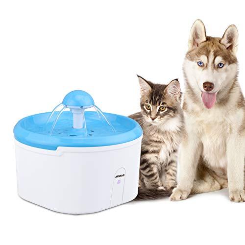 AEMIAO Smart Induzione ad Infrarossi Distributore Automatico della Fontana dell'acqua dell'animale Domestico,2.2L Distributore d'acqua Fontanella per Gatti,Cani - Confezione da 1 filtri al carbone