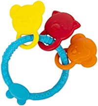 INFANTSO Non-Toxic Food-Grade Silicone Baby Teether Animal Shapes with Easy Grip (Blue), BPA-Free for Pain-Relief Easy Teething, for 2+ Months Babies