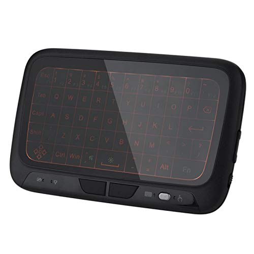 AMONIDA Teclado retroiluminado inalámbrico, 400MA de Amplia aplicabilidad, Carcasa de plástico, Teclado Air Mouse para PC para televisores Inteligentes para Internet TV para computadoras
