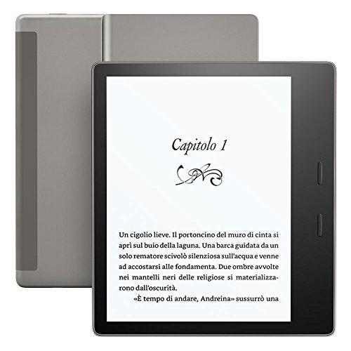 Kindle Oasis - Resistente all'acqua, 32 GB, connettività Wi-Fi + 3G gratuito (generazione precedente - 9ª)
