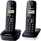 Panasonic KX-TG1612 - Teléfono Fijo inalámbrico Dúo (LCD,...