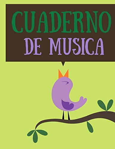 Cuaderno de musica: Cuaderno De Música Pentagramado, Con 8 Pentagramas Por Página, Muy Fácil Para Escribir Notas; Libreta Notación Musical, Tamaño A4, ... para escuela y práctica individual 2019 2020