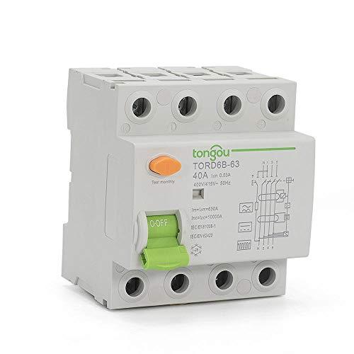 4-polig 40 Ampere 30 mA Typ B 10KA FI-Schutzschalter RCD 230V 400V Fehlerstromschutzschalter Für EV-PV-Differential mit CE-Zertifikat-4_32A_30mA