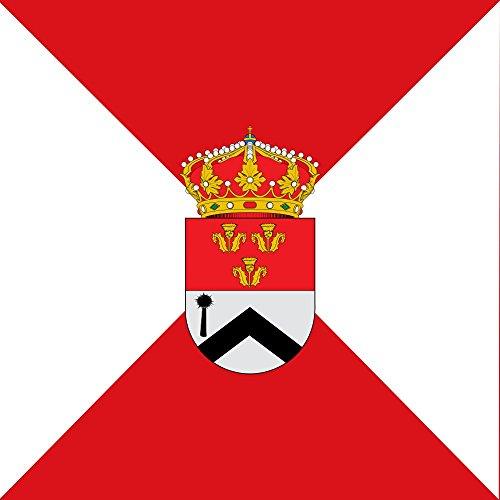 magFlags Bandera Large Cuadrada de proporción 1 1, cuartelada en aspa de Rojo y Blanco | 1.35m² | 120x120cm