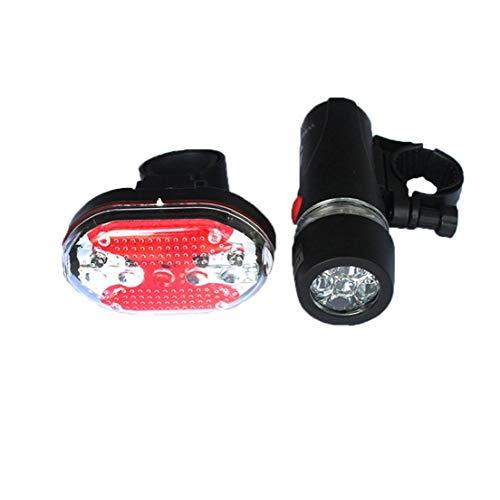 Fahrrad-Licht-Set super helle 5 LED-Leuchten Einfache Montage Scheinwerfer und Rücklicht für alle Fahrräder Batteriebetriebene 1Set