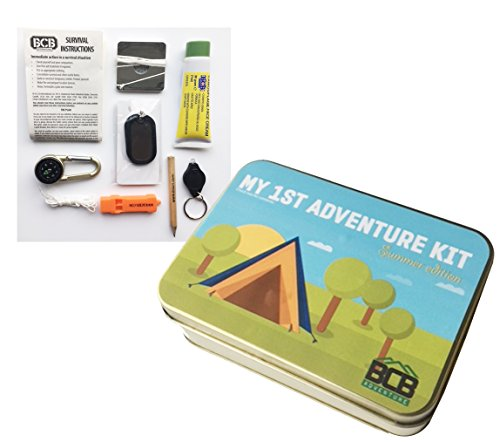 Bushcraft Kid's My First Adventure Kit für Kinder, Bronze, 12 x 8,5 x 3,5 cm