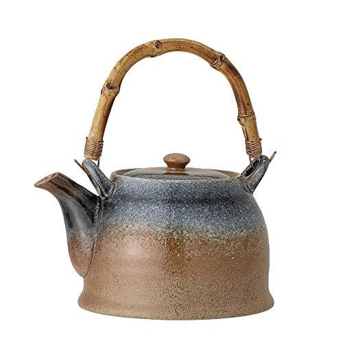 Bloomingville Teekanne mit Teesieb Aura, braun blau, Porzellan