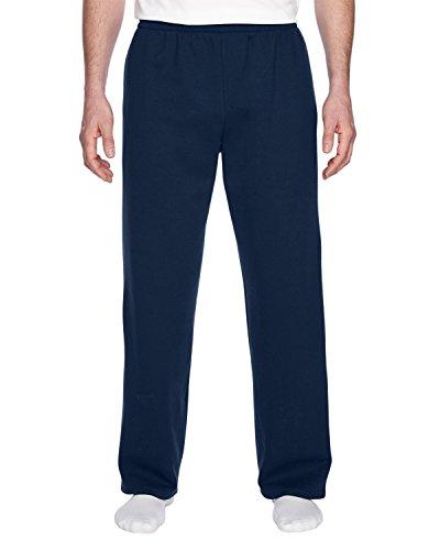 Fruit of the Loom - Pantaloni sportivi da uomo con fondo aperto Marina Militare XXL
