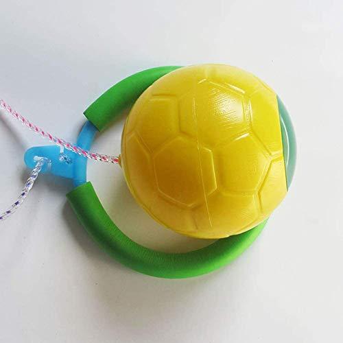 zyl Knöchel Skip Ball,Jump Toys Ball Outdoor Hop Swing Jumping Ball EIN Fuß Skip Ball Sport Gymnastikball Fitness Springseil Für Erwachsene Und Kinder,Yellow