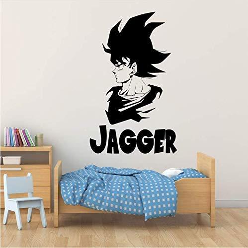 Wandaufkleber Drache Japanischer Anime Avatar Wandtattoo Anpassbarer Name Schlafzimmer Anime Fans Dekoratives Vinyl 57 * 93Cm