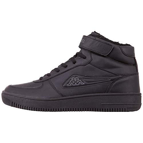 Kappa Unisex Bash Mid Fur Sneaker, czarny - 1111 Black - 42 EU