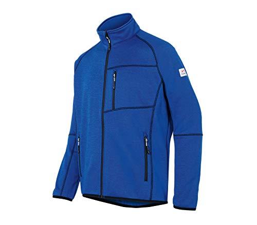KÜBLER Workwear KÜBLER Weather Fleecejacke blau, Größe 4XL, Unisex-Fleecejacke aus Mischgewebe, Funktionelle Fleecejacke