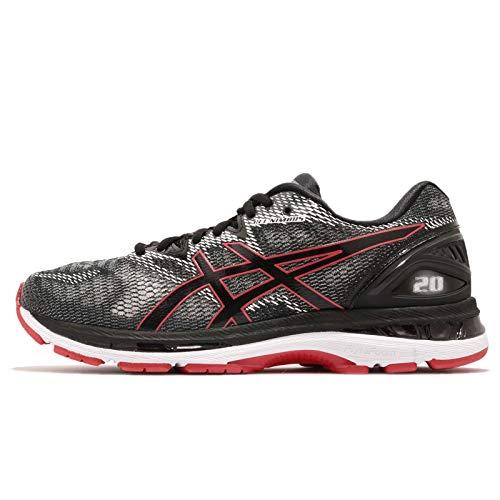 Asics Gel-Nimbus 20, Zapatillas de Running para Hombre, Negro (Black/Red Alert 002), 42 EU