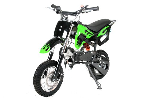 Dirtbike Crossbike 49cc DS67 Dirt Cross Pocket Bike Nitro Schwarz-Grün