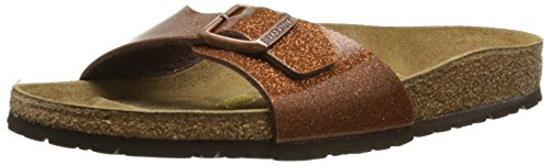 Birkenstock Schuhe Madrid Birko-Flor Schmal Magic Galaxy Bronze (438023) 41 Braun