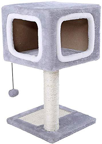 Dsnmm kat boom kat boom kat speelgoed kat klimmen frame kat speelgoed kat kat nest kat krasplank tegen de muur kat klimmen kolom sisal kat plank kat klimmen toren (kleur: grijs, grootte : 31x31x57cm), 31x31x57cm, Grijs