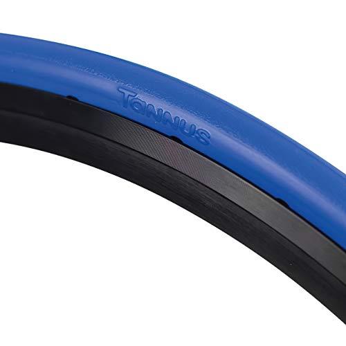 Tannus Tire Cubierta Sólida Airless 700x23c (23-622) Slick   Neumático Macizo Sin Aire 100% Antipinchazos, Bici Carretera, Color Aqua (Azul), Dureza Hard