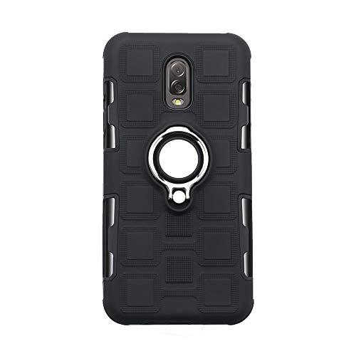 Compatible con Samsung Galaxy J7 Plus/C7 2017 funda, anillo Kickstand 360 ° Fingerring Grip Drop Protección Ultra Slim Fit TPU Carcasa Amortiguación Suave Case Cover