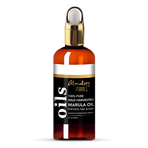 Price comparison product image Glamology Organic Marula Oil 100% Pure,  Cold Pressed,  Wild Harvested Unrefined,  Anti-Aging Moisturizer For Skin,  Moisturizing & Balancing for Hair,  Body,  Hands or Cuticle & Normal to Oily Skin 3.4 oz