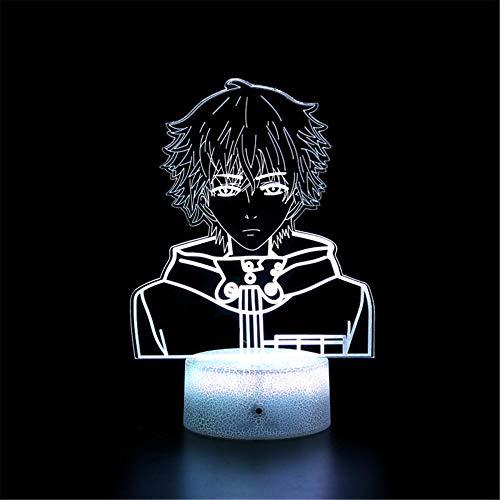 Lámpara de ilusión óptica 3D 3D Luz nocturna Tokyo Ghoul Touch Lámpara de escritorio para dormitorio de niños, cargador USB, regalos bonitos para cumpleaños, día de San Valentín
