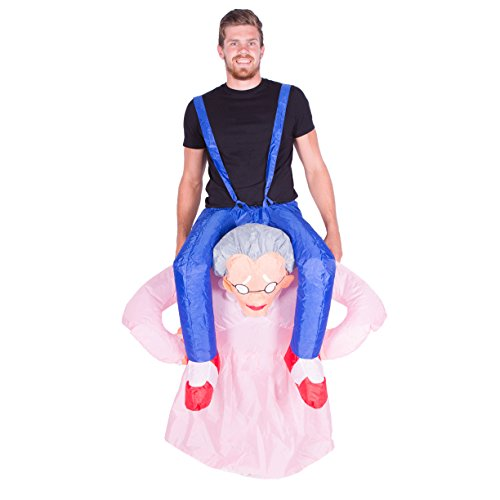 Old Lady Grandma Inflatable Costume for Adults (One Size)