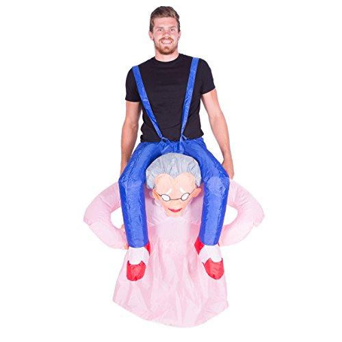 Bodysocks® Déguisement Grand-mère Gonflable Adulte