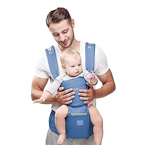 JooBebe 6 in 1 Babytrage Ergonomisch Bauchtrage Kindertrage Neugeboren mit Abnehmbarer Kapuze Atmungsaktiver Rucksackträger Vollständiger Schutz für 0 bis 36 Monate