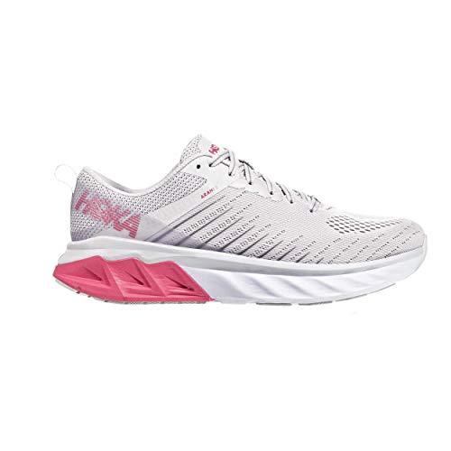 Hoka Arahi 3 Zapatilla para Correr en Carretera o Camino de Tierra Ligero con Soporte Pronaciòn para Mujer Blanco Rosa 42 2/3 EU
