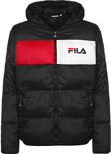 Fila Jacken Herren Floyd Puff Hood Jacket Schwarz 002 Black, Größe:S