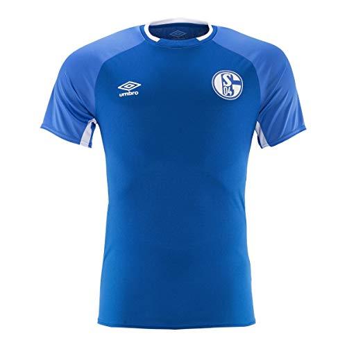 Umbro 2019-2020 Schalke Training Football Soccer T-Shirt Trikot (Blue)