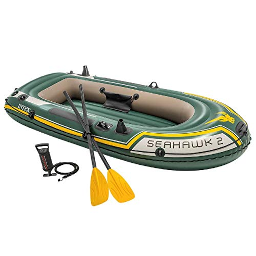 Intex Seahawk 2, 2-Person Inflatable Boat Set with...
