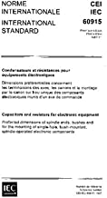 IEC 60915 Ed. 1.0 b:1987, Capacitors and resistors for electronic equipment.: Preferred dimensions of spindle ends, bushes...