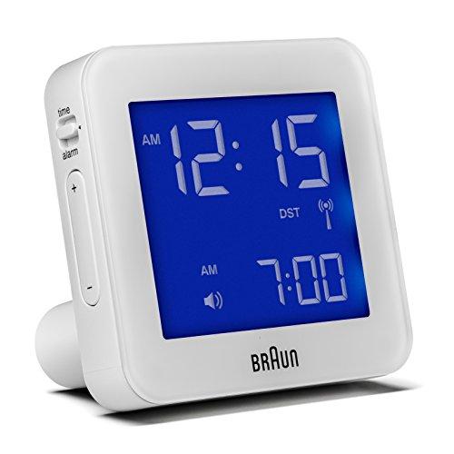 Braun BNC009WHI-RC Digital Quartz Alarm Clock