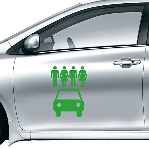DIYthinker 4 personen Energie Voertuigen Bescherm milieu Auto Sticker Op Auto Styling Decal Motorfiets Stickers Voor Auto Accessoires Gift 40Cm