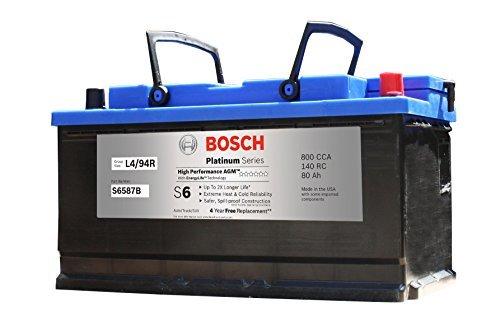 Bosch S6587B S6 Flat Plate AGM Battery