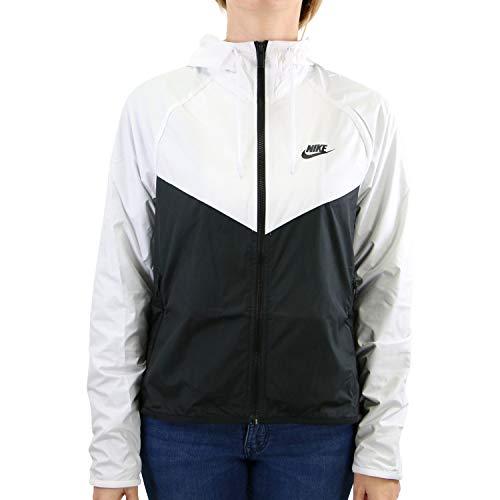 Nike W Nsw Wr Jkt Giacca Sportiva, Donna, White/Black/Black, S